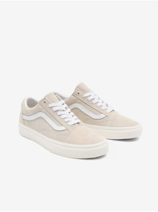 Bielo-béžové pánske semišové topánky VANS Old Skool