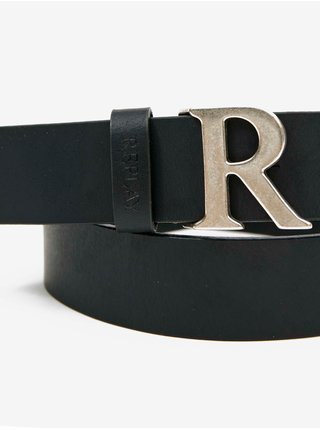 Černý dámský kožený pásek Replay