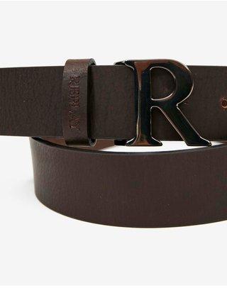 Tmavě hnědý dámský kožený pásek Replay