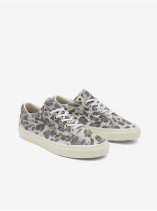Šedé dámské semišové boty se zvířecím vzorem VANS Old Skool