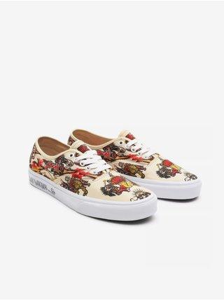 Béžové pánske vzorované topánky VANS Authentic