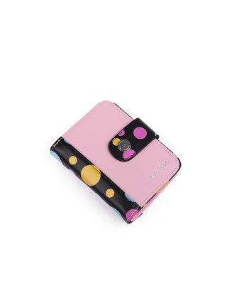 VUCH Dámská peněženka s puntíky růžová Black Dots Collection - CUTY CELINE