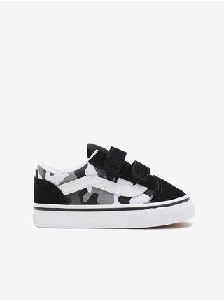 Bílo-černé klučí semišové boty VANS Old Skool