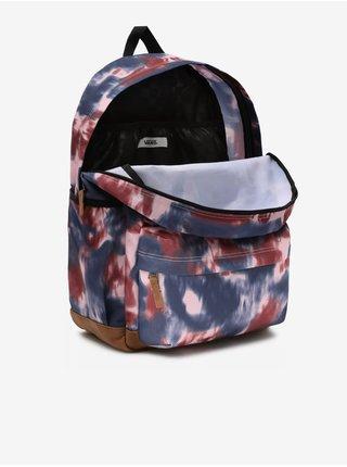 Růžovo-modrý dámský batikovaný batoh VANS