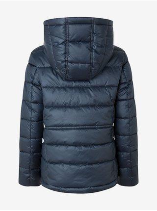 Tmavě modrá dámská prošívaná zimní bunda s kapucí Pepe Jeans Camille