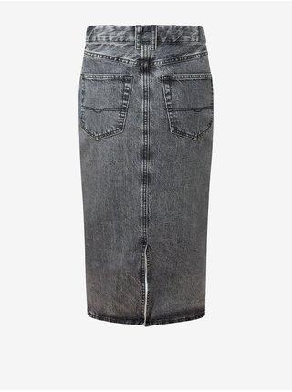 Šedá dámská pouzdrová džínová sukně Pepe Jeans Piper