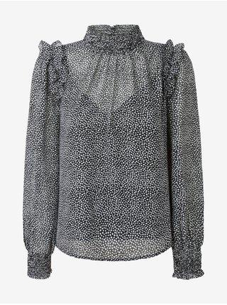 Bílo-černá dámská vzorovaná halenka Pepe Jeans Anais