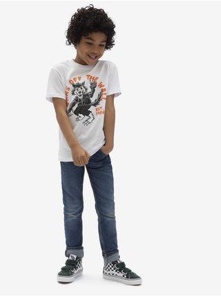 Bílé klučičí tričko s potiskem VANS SK8 Wolf
