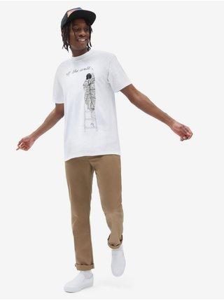 Bílé pánské tričko s potiskem VANS Moca Franc