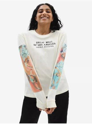 Bílé dámské tričko s potiskem VANS Moca Judy