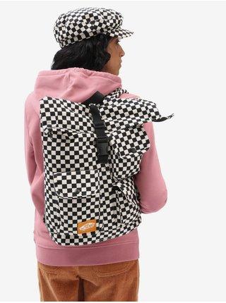 Bílo-černý dámský kostkovaný batoh VANS Mixed Checkerboard