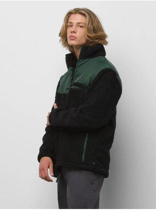 Zeleno-černá pánská bunda z umělého kožíšku VANS Wagner