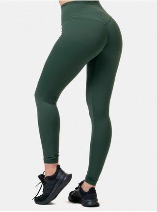 Tmavě zelené sportovní legíny Nebbia
