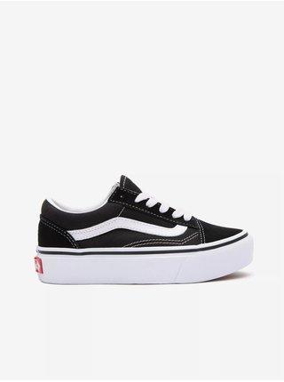 Bílo-černé klučičí semišové boty VANS Old Skool Platfor