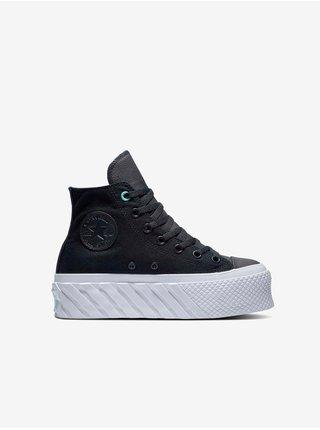 Černé dámské kotníkové tenisky na platformě Converse Chuck Taylor All Star Extra High Platform