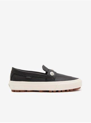 Černé dámské kožené slip on boty VANS Style 53