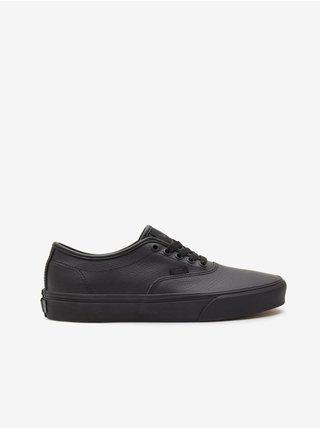 Černé pánské kožené boty VANS Doheny