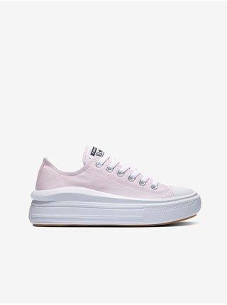 Světle růžové dámské tenisky na platformě Converse Chuck Taylor All Star Move Seasonal Color Platform