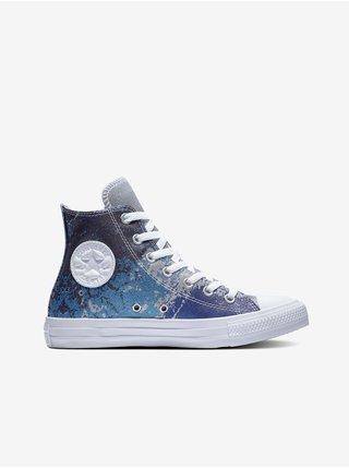 Modré dámské vzorované kotníkové tenisky Converse Chuck Taylor All Star Shimmer & Shine