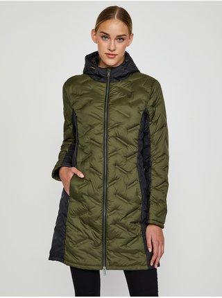 Černo-zelený dámský prošívaný kabát LOAP Itika