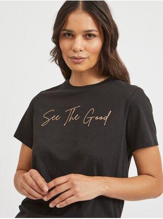 Tričká s krátkym rukávom pre ženy VILA - čierna