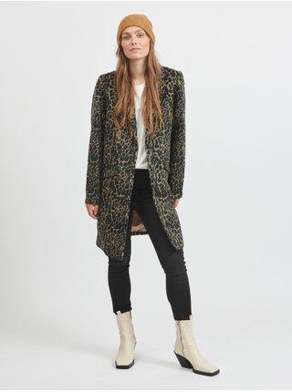 Kabáty pre ženy VILA - hnedá, čierna
