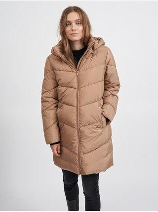 Kabáty pre ženy VILA - béžová