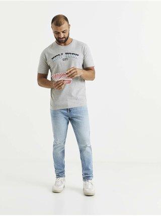 Tričká s krátkym rukávom pre mužov Celio - sivá