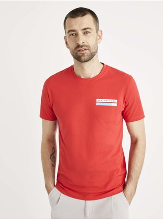 Tričká s krátkym rukávom pre mužov Celio - červená
