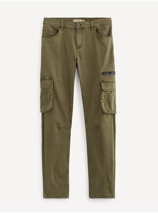 Voľnočasové nohavice pre mužov Celio - zelená