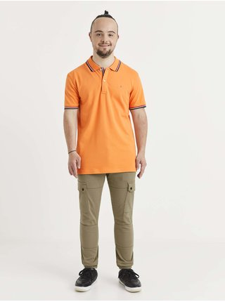 Tričká s krátkym rukávom pre mužov Celio - oranžová