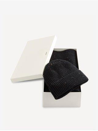 Čiapky, šály, rukavice pre mužov Celio - čierna