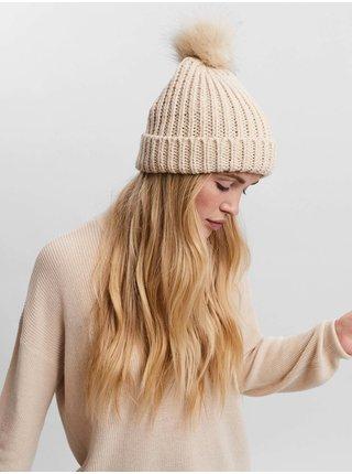 Čiapky, čelenky, klobúky pre ženy VERO MODA - krémová