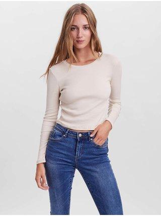 Topy a tričká pre ženy VERO MODA - krémová