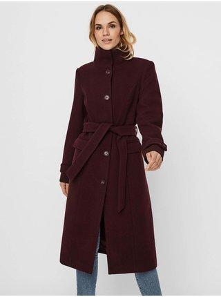 Kabáty pre ženy VERO MODA - vínová