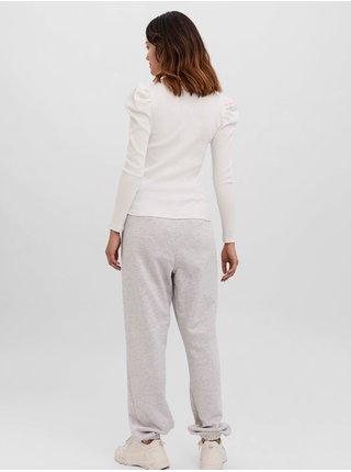 Tričká s dlhým rukávom pre ženy VERO MODA - biela