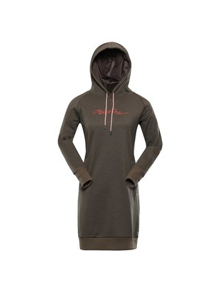 Dámské podzimní šaty s kapucí ALPINE PRO LAKIA 2 šedá