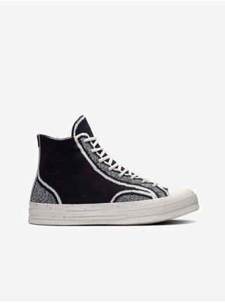 Bílo-černé unisex kotníkové tenisky Converse Renew Chuck 70 Knit