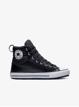 Černé unisex kotníkové tenisky Converse Chuck Taylor All Star Faux Leather Berkshire Boot