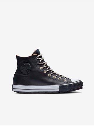 Černé unisex kotníkové kožené tenisky Converse Chuck Taylor All Star Winter Waterproof