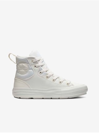 Krémové unisex kotníkové tenisky Converse Chuck Taylor All Star Berkshire Boot Leather