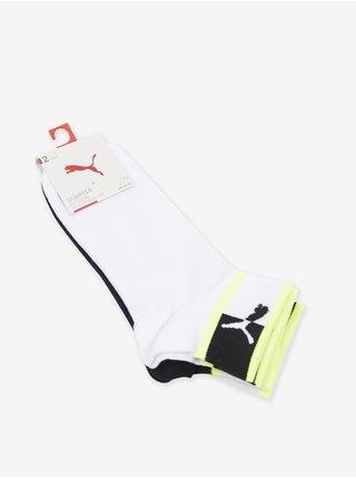 Sada dvoch párov pánskych ponožiek v bielej a čiernej farbe Puma Blocked Logo