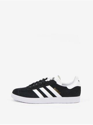 Bílo-černé unisex semišové boty adidas Originals Gazelle