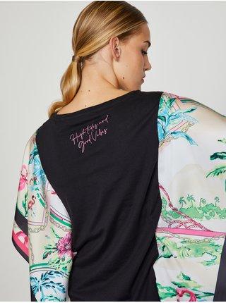 Černé dámské tričko s volnými rukávy Guess Lindsey Tee