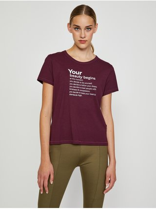 Vínové tričko s potlačou Jacqueline de Yong Michigan Life