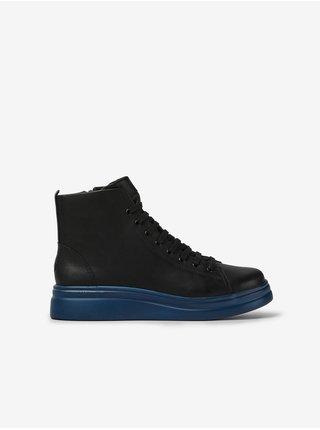 Modro-čierne dámske členkové kožené topánky Camper Triton