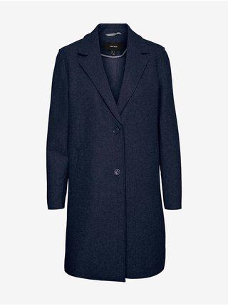 Tmavomodrý kabát VERO MODA Paula