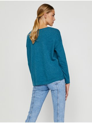 Modrý svetr s příměsí vlny CAMAIEU