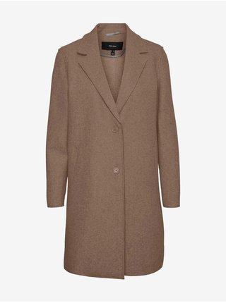 Hnedý kabát VERO MODA Paula