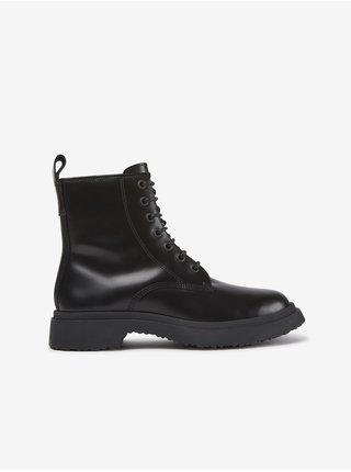 Černé dámské kotníkové kožené boty Camper Docky